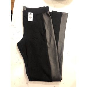 Express Black Faux Leather Legging (NWT)